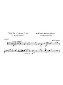Carl Nielsen: Ved En Ung Kunstners Båre (At The Bier Of The Young Artist) - Parts Books | String Orchestra
