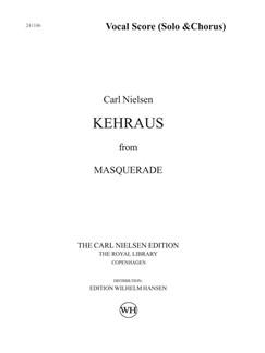 Carl Nielsen: Kehraus From Masquerade (Vocal Score) Books | SATB, Baritone Voice, Piano Accompaniment