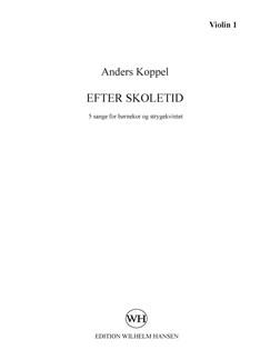 Anders Koppel: Efter Skoletid (Parts) Bog | SA, Strygekvintet