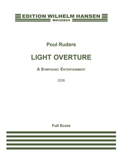 Poul Ruders: Light Overture (Full Score) Books | Orchestra