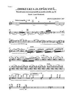Jouni Kaipainen: …OHIKULKUA JA EPÄILYSTÄ… (Parts) Books | String Quartet