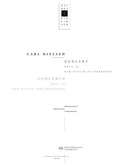 Carl Nielsen: Concerto For Violin And Orchestra Op.33 (Piano Score) Books | Violin, Piano Accompaniment
