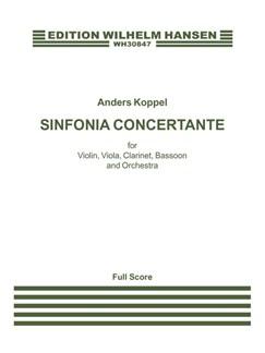 Anders Koppel: Sinfonia Concertante (Score) Books | Violin, Viola, Clarinet, Bassoon, Orchestra