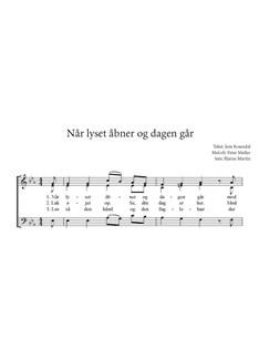 Arr. Bjarne Martin: Når Lyset Åbner Og Dagen Går Bog | SAB