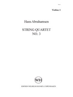 Hans Abrahamsen: String Quartet No.3 (Parts) Books | String Quartet