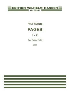 Poul Ruders: Pages 1-X (Guitar Solo) Books | Guitar