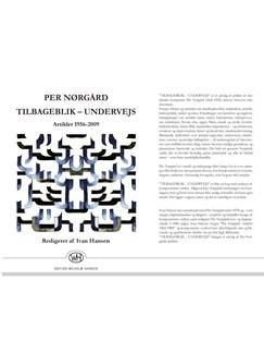 Per Nørgård: Tilbageblik - Undervejs  (Artikler 1956-2009) Libro |