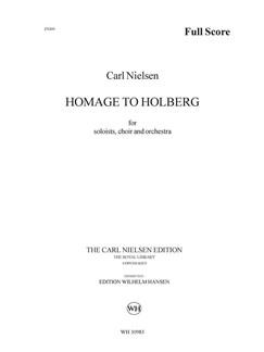 Carl Nielsen: Hyldest Til Holberg (Partitur) Bog | Baryton Stemme/SATB/Orkester