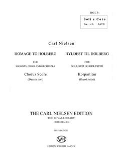 Carl Nielsen: Homage to Holberg / Hyldest Til Holberg (Vocal Score) Books | Baritone Voice, SATB