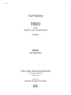 Carl Nielsen: Trio For Violin, Cello And Piano (Score And Parts) Books | Violin, Cello, Piano Chamber, Trio
