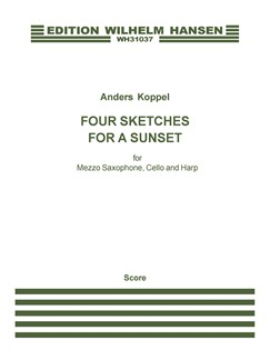 Anders Koppel: Four Sketches For A Sunset (Score And Parts) Books | Mezzo-Soprano, Cello, Harp