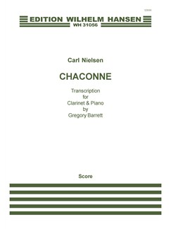 Carl Nielsen: Chaconne (Score and Part) Books | Clarinet, Piano Chamber