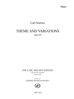 Carl Nielsen: Theme And Variations Op. 40 (Piano Solo) Books | Piano