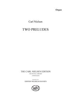 Carl Nielsen: Two Preludes (Organ Solo) Books | Organ