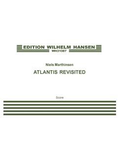 Niels Marthinsen: Atlantis Revisited (Score) Bog | Strygekvartet, Stemme