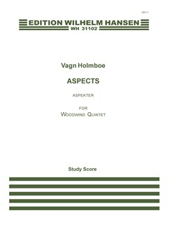 Vagn Holmboe: Aspects Op. 72 (Score) Books | Wind Quintet