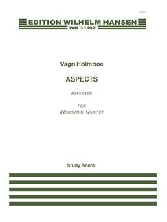 Vagn Holmboe: Aspects Op. 72 (Score) Libro | Quinteto de Vientos