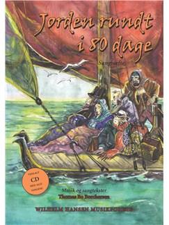 Thomas Bo Borchersen: Jorden Rundt i 80 Dage (Songbook/CD) CD y Libro |