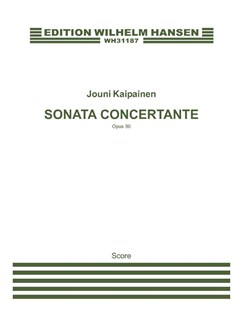 Jouni Kaipainen: Sonata Concertante (Score) Books | Flute, Violin, Harp, Viola, Cello, Double Bass