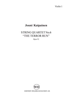 Jouni Kaipainen: String Quartet No. 6 'The Terror Run' (Parts) Books | String Quartet