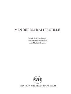 Michael Bojesen: Men Det Bli'r Atter Stille Books |