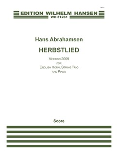 Hans Abrahamsen: Herbstlied - Version 2009 (Score) Bog | Engelskhorn, Violin, Bratsch, Cello, Klaver Ensemble