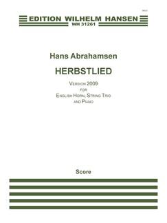 Hans Abrahamsen: Herbstlied - Version 2009 (Score) Books | Cor Anglais, Violin, Viola, Cello, Piano, Harpsichord