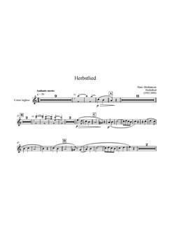 Hans Abrahamsen: Herbstlied - Version 2009 (Parts) Books   Cor Anglais, Violin, Viola, Cello, Piano Chamber, Harpsichord