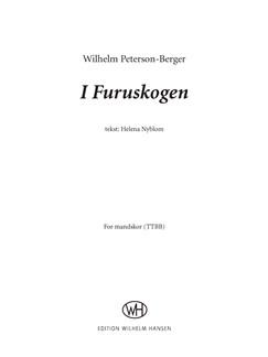 Wilhelm Peterson-Berger: I Furuskogen (TTBB) Books | TTBB