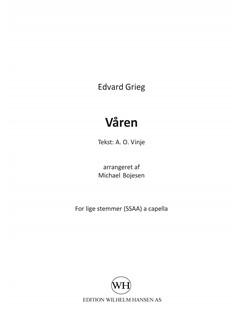 Edvard Grieg (Arr. Michael Bojesen): Våren (SA) Books | SSAA