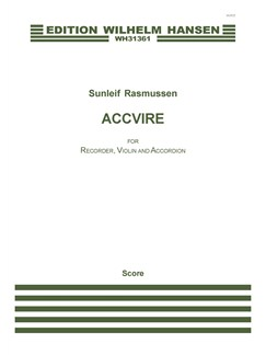 Sunleif Rasmussen: Accvire (score) Books | Recorder, Violin, Accordion