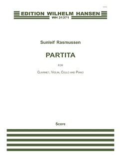Sunleif Rasmussen: Partita (Score) Books | Clarinet, Violin, Cello, Piano Chamber