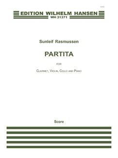 Sunleif Rasmussen: Partita (Score) Books   Clarinet, Violin, Cello, Piano Chamber