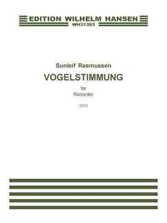 Sunleif Rasmussen: Vogelstimmung (Recorder Solo) Books | Recorder