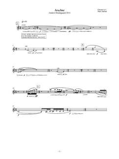 Anders Brødsgaard: Arachne (Parts) Libro | Clarinete, Clarinete Bajo, Violín, Viola, Contrabajo, Percusión, Conjunto de Escuela