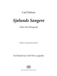 Carl Nielsen: Sjølunds Sangere (SATB) Books | SATTB