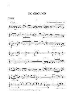 Pelle Gudmundsen-Holmgreen: No Ground, String Quartet No.11 (Parts) Books | String Quartet