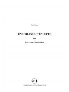 Carl Nielsen: Underlige Aftenlufte (SSA) Bog | SSA - Lige stemmer