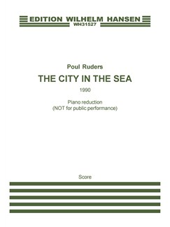 Poul Ruders: The City In The Sea (Piano Reduction) Books | Alto, Piano Accompaniment