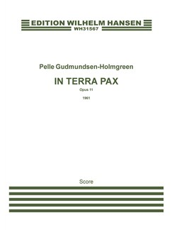 Pelle Gudmundsen-Holmgreen: In Terra Pax Op.11 (Score) Books | Clarinet, Percussion, Piano Chamber