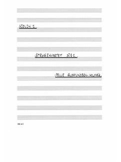 Pelle Gudmundsen-Holmgreen: Strygekvartet Nr. 1 (Parts) Books | String Quartet