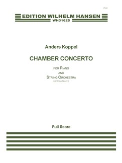 Anders Koppel: Piano Chamber Concerto (Score) Books | Piano Chamber, String Orchestra