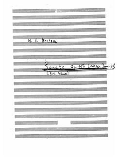Niels Viggo Bentzon: Sonate Op.117 Books | Piano