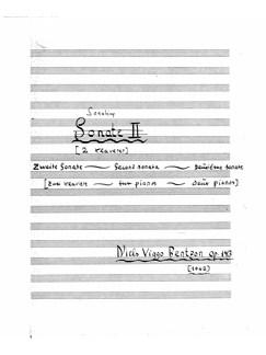 Niels Viggo Bentzon: Sonatine Op.143 For 2 Klaverer Bog | Klaver solo, Klaverduet