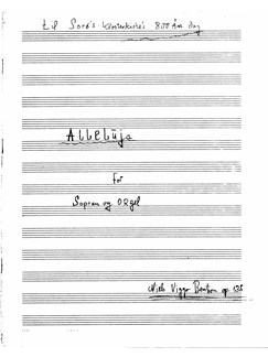 Niels Viggo Bentzon: Alleluja for Sopran Og Orgel Books | Soprano, Organ Accompaniment