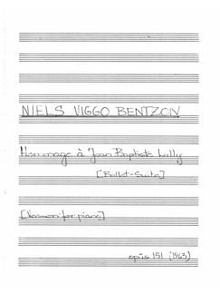 Niels Viggo Bentzon: Hommage a Jean Baptiste Lully (Piano Solo) Bog | Klaver solo