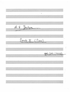 Niels Viggo Bentzon: Sonate X Books | Piano