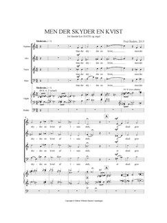 Poul Ruders: Men Der Skyder En Kvist Books | SATB, Organ Accompaniment