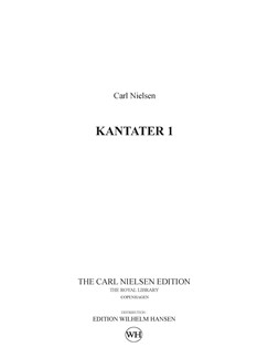 Carl Nielsen: Kantater 1 / Cantatas 1 (Score) Books | Orchestra
