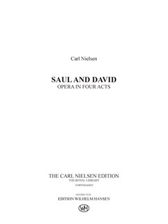 Carl Nielsen: Saul og David  Dansk/Engelsk (Score) Books | Opera